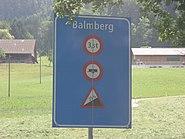 Schild Balmberg