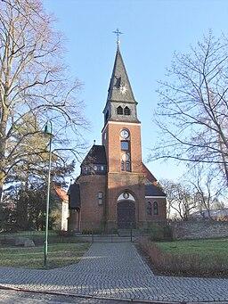 West-north-western view of Schildow church, municipality Mühlenbecker Land, Oberhavel district, Brandenburg state, Germany