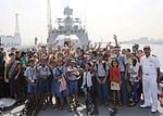 School children visit INS Tarkash as a part of Navy Day 2015 celebrations (1).jpg