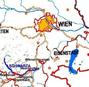 Schwarza (Leitha) - Image: Schwarza karte