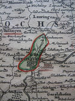 Territory of Schweinfurt in the 18th century