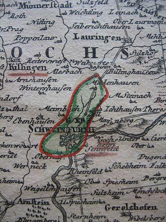 Schweinfurt - Territory of Schweinfurt in the 18th century