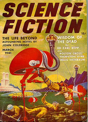 Science fiction magazine - March 1941 cover of the Science Fiction magazine, volume 2, issue 4