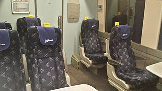 British Rail Class 170 - Refurbished first class accommodation on board a Scotrail Class 170/4