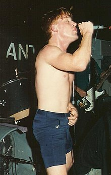 Reynolds performing with All in 1989/90