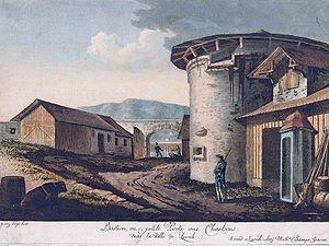 Bellevueplatz - Kohlepörtli gate at the present Sechseläutenplatz, Franz Hegi and Matthias Pfenninger, c. 1795