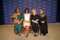 Secretary Clinton and First Lady Obama With 2011 Nobel Peace Prize Laureates Leymah Gbowee and Tawakkol Karman.jpg