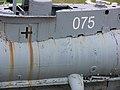 Seehund 075 next to USS Salem closeup left side 28 June 2008.jpg