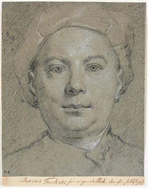 Carl Marcus Tuscher - Marcus Tuscher's self-portrait