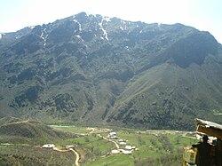 En utsikt over Şemdinli