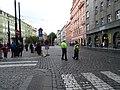 Senovážné náměstí před průvodem tramvají, od Jindřišské (02).jpg