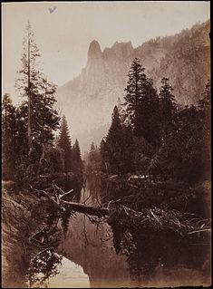 Sentinel Rock granitic peak in California