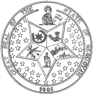Seal of Oklahoma - The Great Seal of the proposed State of Sequoyah