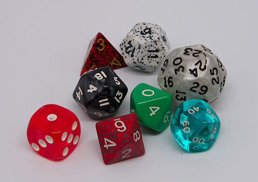 Set of roleplaying dice