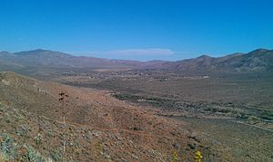 Shelter Valley, California - Image: Shelter Valley as seen from the Pacific Crest Trail north of the community