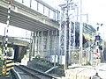 Shinkansen overbridge Izuhakone railway Daiyuzan line.jpg