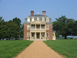 Charles City County, Virginia - Shirley Plantation, one of the James River plantations in Charles City County