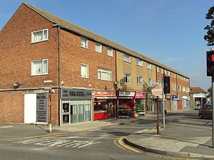 Pensby - Image: Shops, Pensby 1