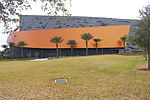 Side of Kennedy Space Center, Atlantis Building.JPG