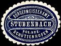 Siegelmarke Bürgermeisteramt Stubenbach - Polizei Bezirk Schüttenhofen W0246170.jpg