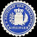 Siegelmarke Königlich Bayerische Rectorat der Realschule Kitzingen W0225570.jpg