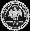 Siegelmarke K.Pr. Gericht des Pionier-Bataillons No. 18. W0283734.jpg