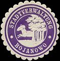 Siegelmarke Stadtverwaltung Bojanowo W0348081.jpg