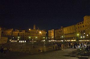 Scorcio di Piazza del Campo a Siena