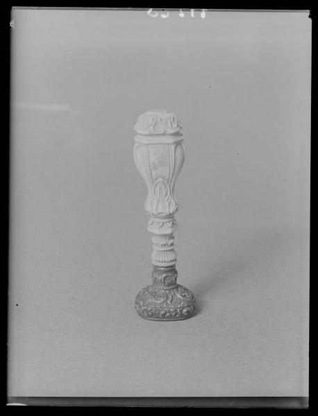 File:Sigillstamp för prins Gustav av Sverige (1827-1852) - Livrustkammaren - 19463.tif