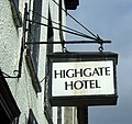 Sign for the Highgate Hotel, Kendal (geograph 5200741).jpg