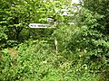 Signpost on a country lane - geograph.org.uk - 1027713.jpg
