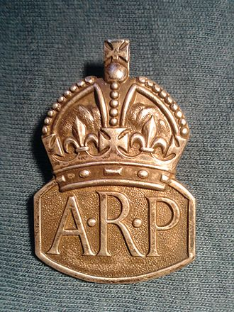 Air Raid Precautions in the United Kingdom - Silver 1936 ARP lapel badge