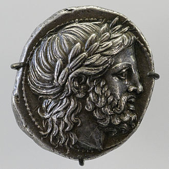 Rise of Macedon - Philip II of Macedon – a Macedonian silver tetradrachm coin minted during his reign