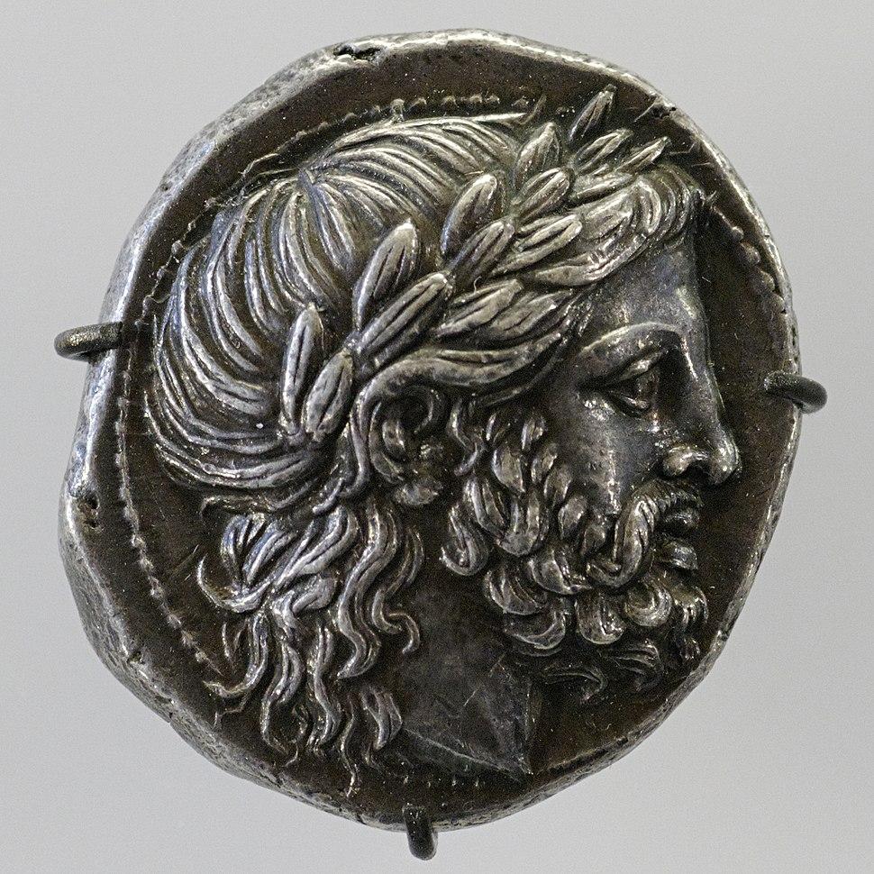 Silver tetradrachm obverse Philip II CdM Paris Armand-Valton315