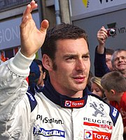 Simon Pagenaud Le Mans drivers parade 2011 crop.jpg