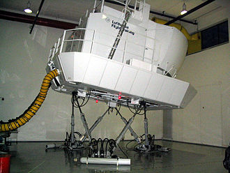 Motion simulator - A hexapod motion platform used in another flight simulator