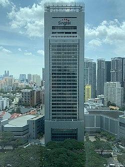 Singtel Comcentre, Singapur, diciembre de 2018.jpg