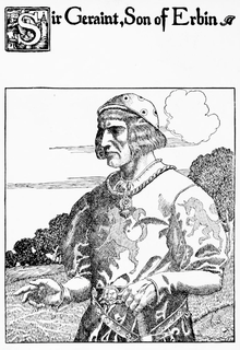 Geraint king of Dumnonia from Welsh folklore and Arthurian legend