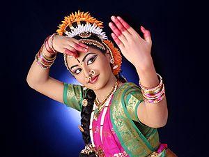 Kuchipudi - A Kuchipudi dance posture.