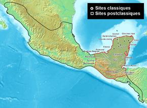 Civilisation maya wikip dia for Cultura maya ubicacion