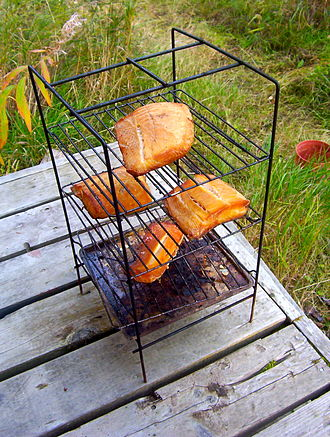 Smoked fish - Pacific halibut filets hot smoked with a blend of mesquite and alder woods