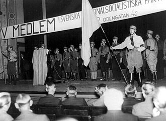 Swedish National Socialist Party - SNSP meeting, 1933
