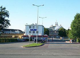 Widok na zak�ady SOLBET w Solcu Kujawskim od strony drogi wojew�dzkiej nr 394