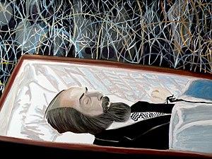 Valéry Grancher - Soljenitsyne: a XXth century paradox by Valéry Grancher (Oil on canvas 61x46 cm)