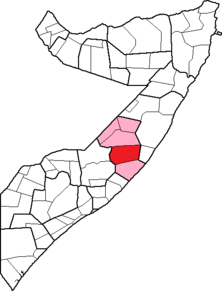 Location of El Buur District within the Galguduud region.