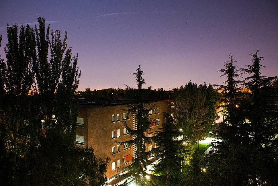 Somosaguas en la noche
