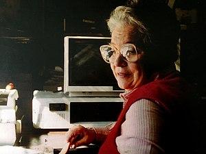 """Sonia Landy Sheridan - Sonia Sheridan at """"Procesos y Nuevas Tecnologías""""."""