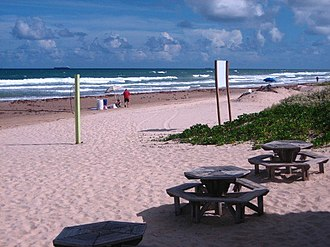 South Padre International Music Festival - Image: South Padre Island Beach View