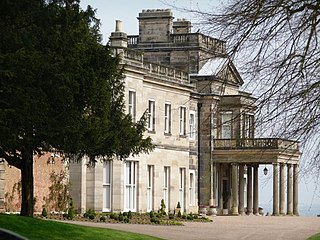 Dunstall Hall country house in Dunstall, Staffordshire, UK