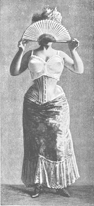 History of bras - Support of the bosom by a bodice (French: brassière). 1900